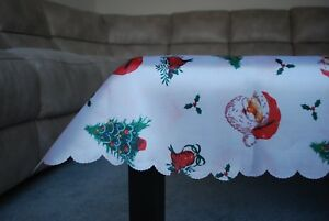 Christmas-Table-Runner-or-Cloth-Red-Merry-Cloth-Party-Decor-Sparkly-gift