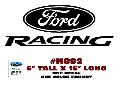 """N315 FORD MUSTANG 11.3/"""" LONG FORD RACING 4.75/"""" TALL DECAL LICENSED"""