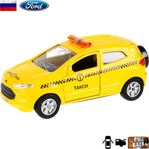 Diecast-Vehicles-Scale-1-36-Ford-Ecosport-Russian-Taxi-Model-Car