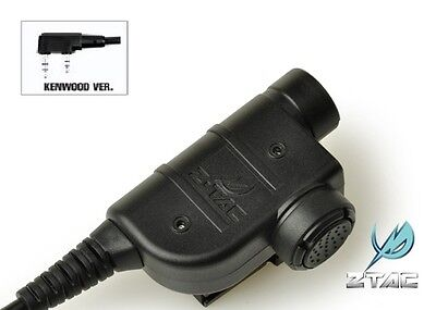 Element / Z-Tactical Z125 Silynx Style PTT for Kenwood 2 Pins Radio Headset