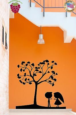 Wall Sticker Tree Love Romantic Cute Couple for Bedroom z1337
