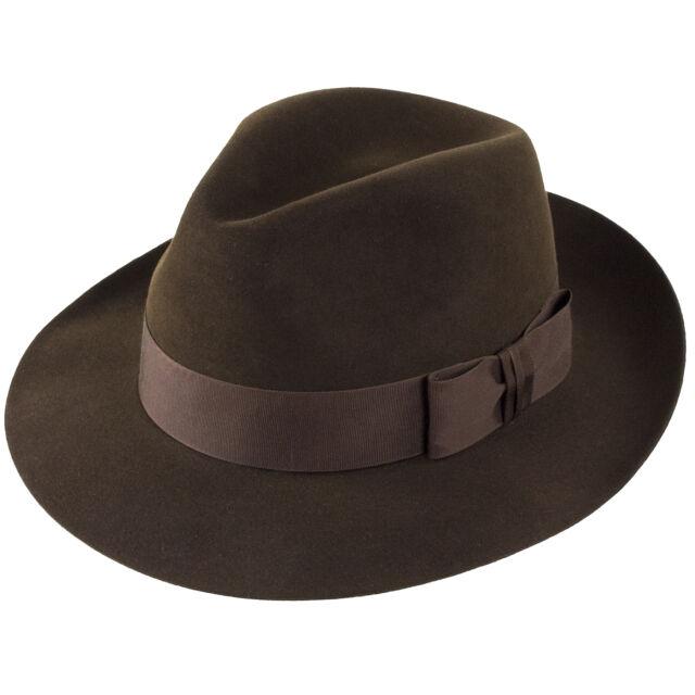 Christys/' Hats Knightsbridge Fur Felt Trilby Black