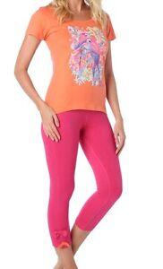 e089d2e763821 pyjacourt pyjama coton strass imprimé corail rose taille 4 (46 48 ...