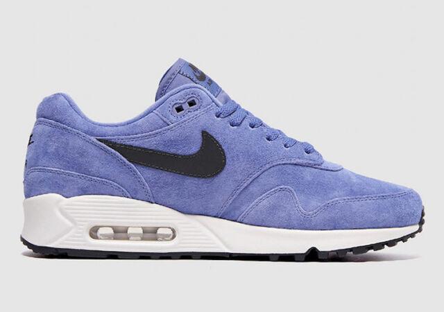 Nike Air Max 90 1 Mens Aj7695-500 Purple Basalt Suede Running Shoes ... 19d20402b37a