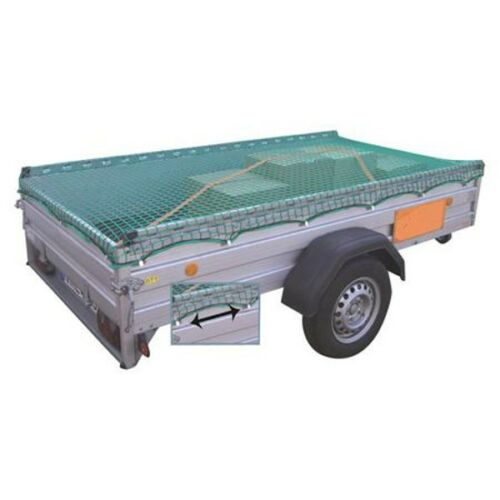 2,2x1,5m Anhänger-Schutznetz mit Spannseil Transportnetz PKW Ladungssicherung