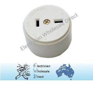 Plug-Base-Surface-Socket-Two-Straight-Pin-32V-15V-Polarised-2-Pin-Socket-Outlet