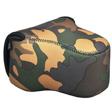 JJC OC-MC0YG Neoprene Camouflage Camera Case For Fujifilm HS50 X-M1 X-T1 55-200