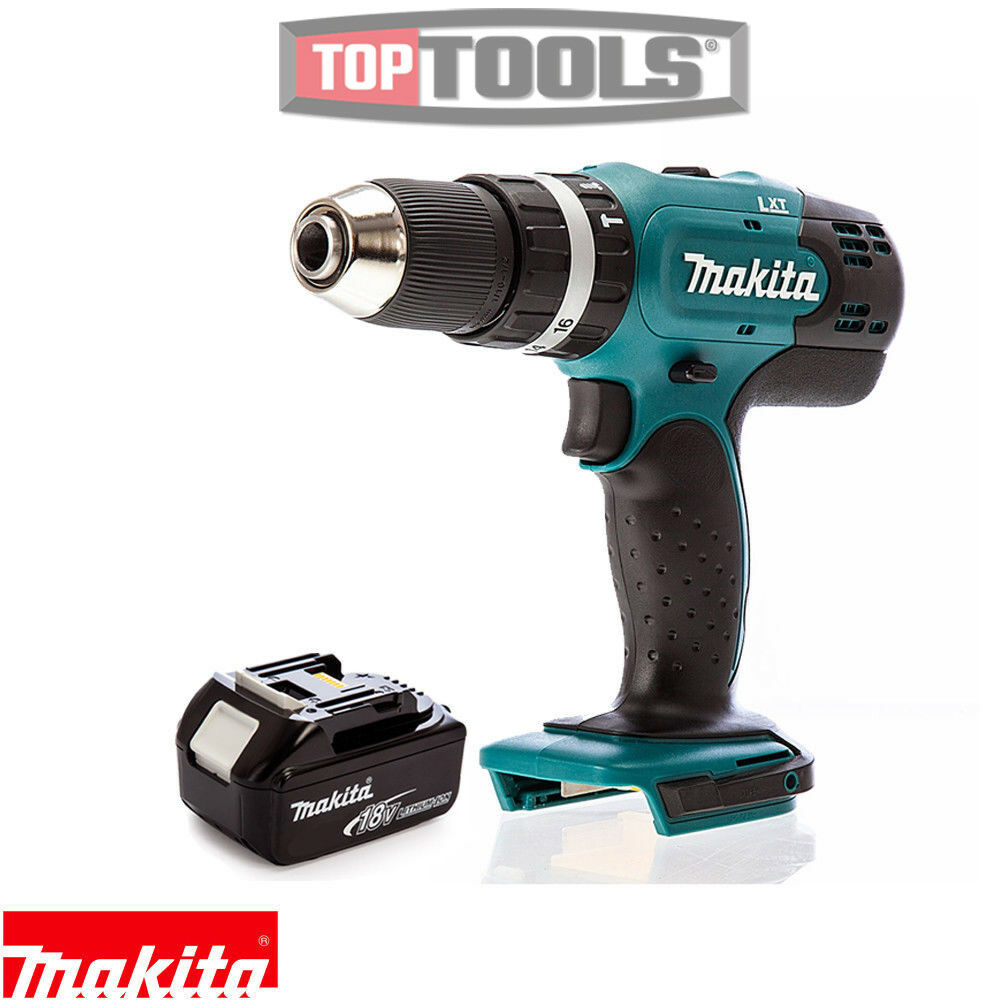 Makita DHP453Z 18V 13mm 2 Speed LXT Combi Drill Body With 1 x 5Ah Battery