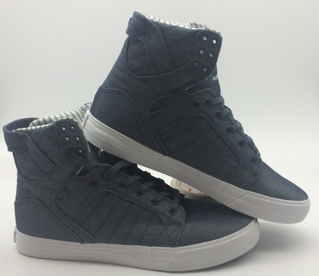 Mr/Ms Supra Men's Shoes 'Skytop''-- Blue/White Outstanding features stable quality Current shape