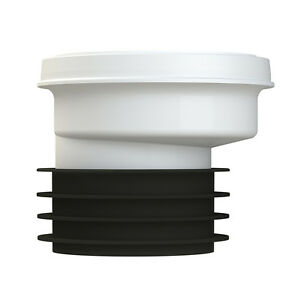 """Soil Piper Easy Fit Straight Rigid WC Pan Connector To 110mm 4/"""" FREE P/&P"""