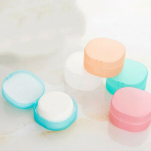Round-shower-bathroom-dish-plate-case-travel-hiking-holder-container-soap-box-I