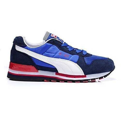 Puma TX-3 Blue Suede with White Logo Retro Sports Casual Running Sneakers