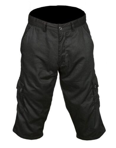 Men/'s Shorts 3//4 Casual Cotton Cargo Work Outdoor Beach Wear Black Navy Grey New