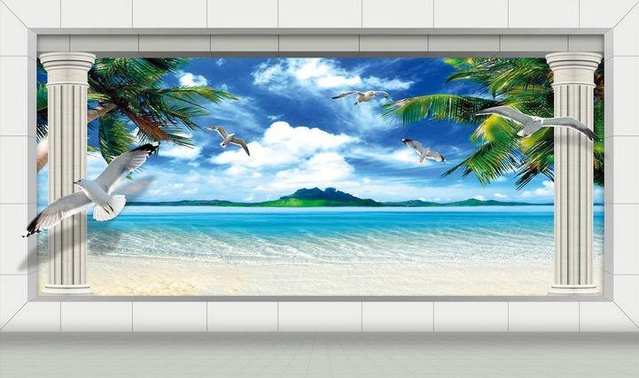 3D Bird sand beach 805 Paper Wall Print Decal Wall Wall Murals AJ WALLPAPER GB