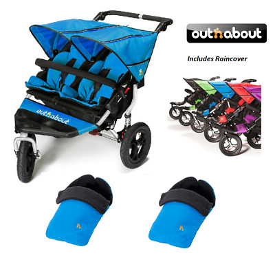 Deluxe Footmuff//Cosy Toes Compatible with Out n About Nipper Single 360 Pushchair Blue