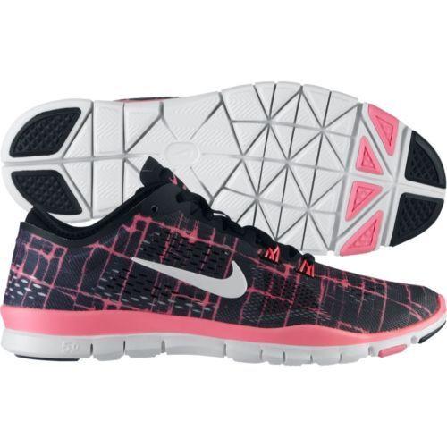 Nuove nike libera tr forma 4 hanno le scarpe da corsa nero / bianco / rosa 629832-003.