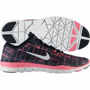 85ca20ebaad New Nike Free 5.0 TR Fit 4 PRT Running Shoes Black White Pink Glow ...