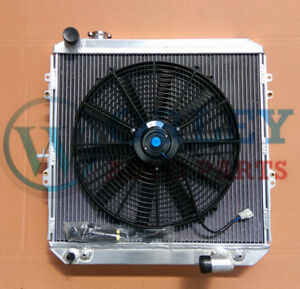 QLD-GPI-2-ROW-Aluminum-Radiator-One-Fan-for-HILUX-LN106-LN111-Diesel-1988-1997
