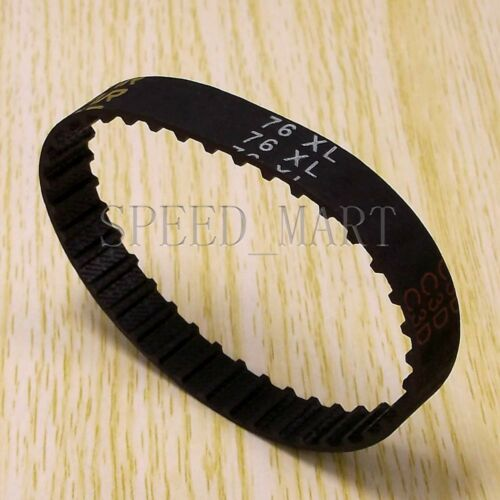76XL 76XL037 Timing Belt 38 Teeth Black Cogged Rubber Geared Belt 10mm Wide