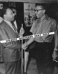 Rare DR MARTIN LUTHER KING JR Candid Photo BILLIARDS Snooker Pool CUE MLK Day