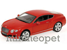 MINICHAMPS 100 139922 2011 11 BENTLEY CONTINENTAL GT 1/18 DIECAST RED
