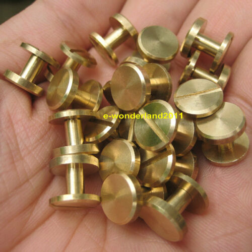 10.5×6mm Leather Craft Belt Wallet Solid Brass Nail Rivets Chicago Screws