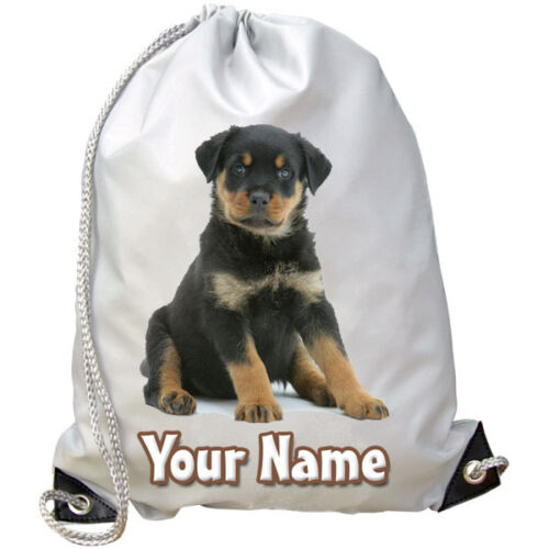 DANCE BAG GIFT /& NAMED PE ROTTWEILER DOG PUPPY PERSONALISED SWIMMING