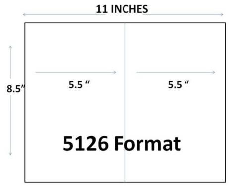 """Half Sheet 8.5 x 5/"""" Generic Laser Printer 1,000 1//2 Sheet Shipping Labels"""