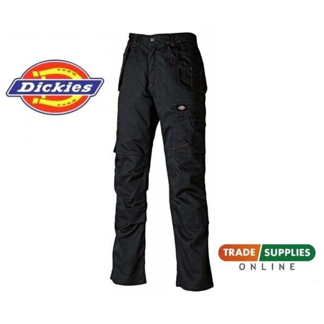 DICKIES WD801 REDHAWK PRO Work Trouser Black Super Action Builder Joiner Plumber