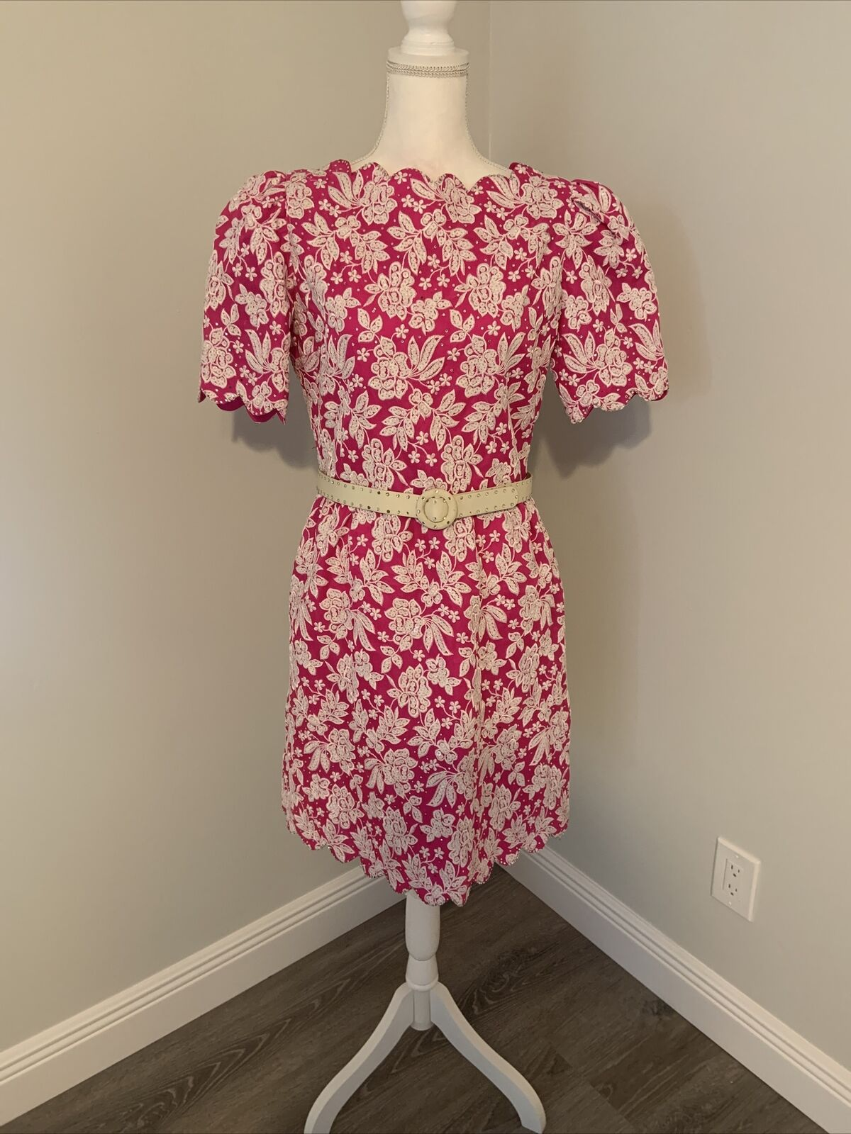 Arnold Scaasi Womens Vintage Couture Hot Pink Emb… - image 2