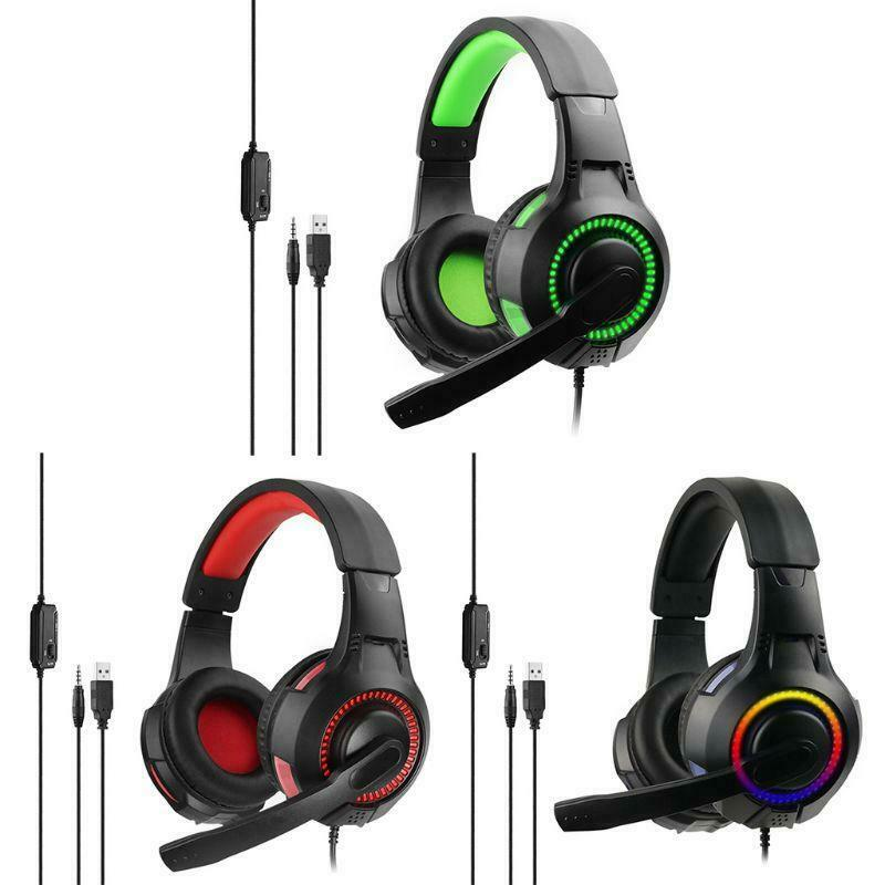 Headphones with Microphone Hi-Fi LDE Glow Gaming Headset For PC PS4 X-box One