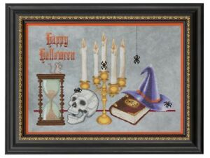 GLENDON-PLACE-Cross-Stitch-Pattern-Chart-SPELL-BOUND-Happy-Halloween