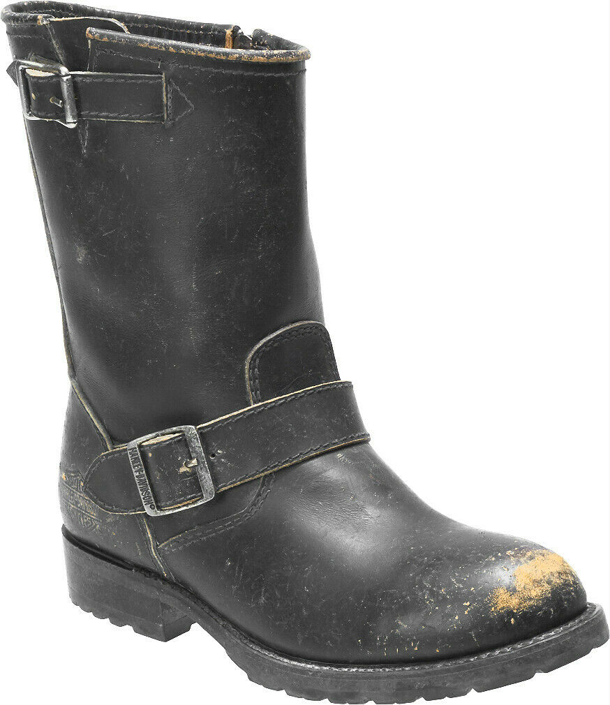 Harley-Davidson® Women's Kamson Black Leather Motorcycle Riding Boots D84415