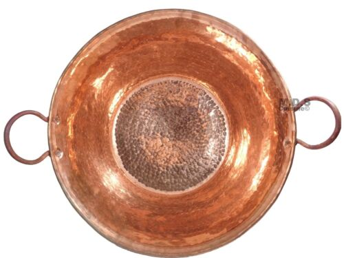 """Cazo De Cobre Para Carnitas Large 18/"""" Heavy Duty Gauge Copper 100/% Made Mexico"""