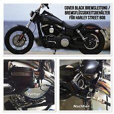 Cover Black Bremsleitung / Bremsflüssigkeitsbehälter  für Harley Street Bob,Fat