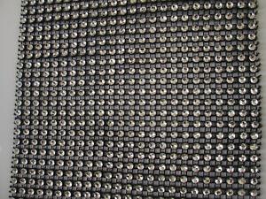 0-5m-elegante-Strass-Band-Borte-Nichtelastisch-Spitze-Schwarz-11-8cm-Breit-PT042