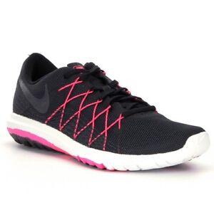 Nike Women's Flex Fury 2 Black Hyper Pink Anthracite Sz 7 Pre- owned