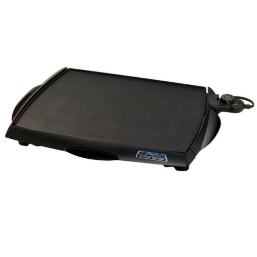 Tilt n Drain Electric Griddle Large Flat Top Pancake Breakfast Countertop Grill