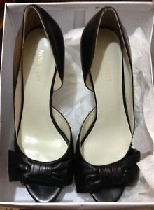 Zennia-by-Nine-West-size-8-black-leather-new-with-box