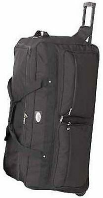 "Large Durable 36"" Rolling Wheeled Duffel Bag Luggage Travel"
