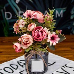Faux-Pivoine-Artificielle-Fleurs-en-Soie-Bouquet-de-MarieE-Hortensia-DeCora-J3H6