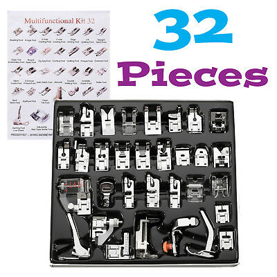 32//62pcs Set Domestic Sewing Machine Foot Presser Feet Kit For Brother Singer Q8