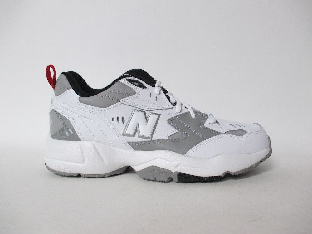 New Balance 608 White Grey Black Red Alabaster Classic Sz 11 MX608RG1