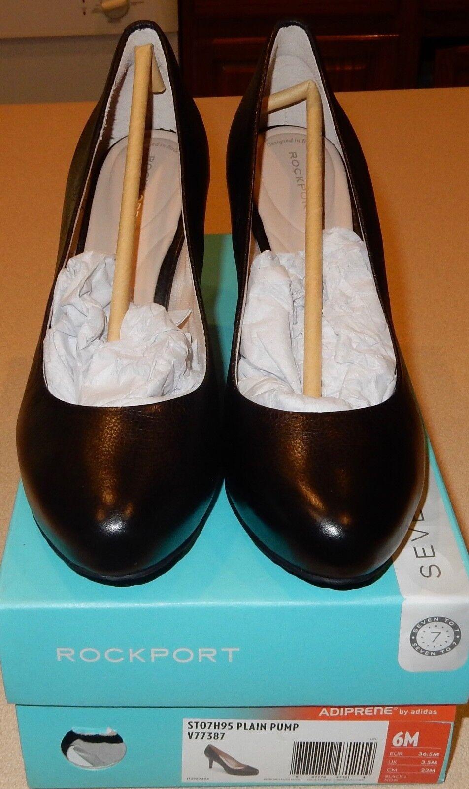 vendita economica Rockport Rockport Rockport Donna  St07h95 Plain Pump Nice Dimensione 6 6M nero scarpe W Box  trova il tuo preferito qui