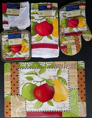 Items Kitchen Two Apples /& Pear Theme Linen /& Placemats Select