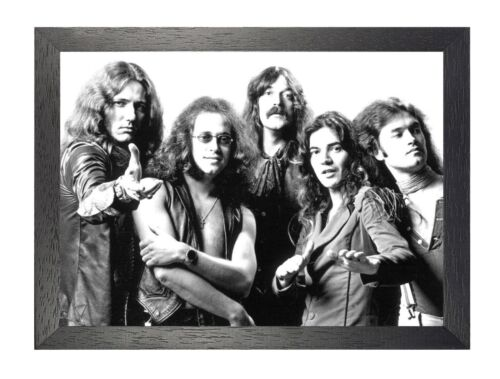 Deep Purple 4 English Heavy Rock Band Star Classic Music Legends Poster B/&W