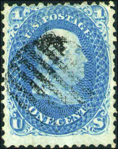 1868-United-States-Postage-Stamp-92-F-Grill-Used-Grid-Cancel