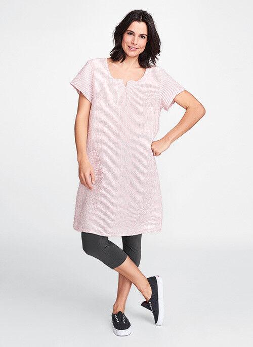 FLAX Designs    Linen Coastline Dress   2G     NWT  Sunshine Dress  GREEN f37b31