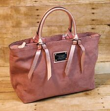 VICTORIAS SECRET PINK FAUX SUEDE PURSE HANDBAG TOTE NEW