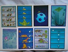 8 cartes postales MORDILLO / VERLAG tendance BLEU